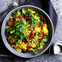 Cous cous, chickpea and roasted vegetable salad thumbnail