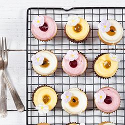 Pastel pots cup cake - mini thumbnail