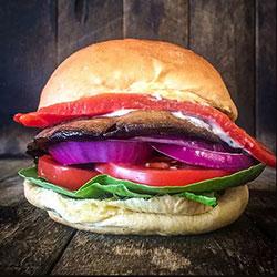 Grilled portobello burger thumbnail