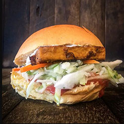 Satay tofu burger thumbnail