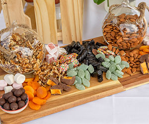 Grazing platter - nuts and chocolates thumbnail