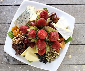 European cheese and fruit board thumbnail