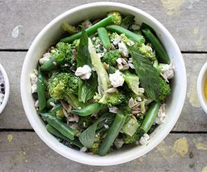 Peas, beans and broccoli salad thumbnail