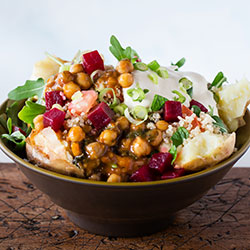 Moroccan chickpea and kale spud thumbnail