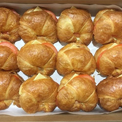 Cheese and tomato croissant platter thumbnail