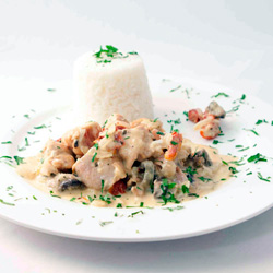 Chicken Involtini with steamed rice thumbnail