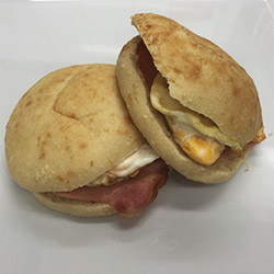 Bacon and egg Turkish roll thumbnail