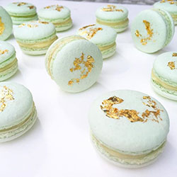 Gold and silver leaf macarons thumbnail