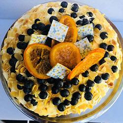 Orange and almond cake - triple layer thumbnail
