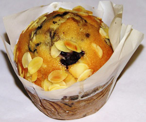 Blueberry and almond muffin thumbnail