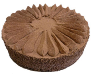 Chocolate mousse deluxe cake - 24 cm - serves up to 14 thumbnail