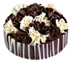 Double chocolate fantasy cake -  24 cm - serves up to 14 thumbnail