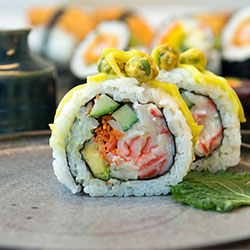 Inside out sushi roll thumbnail
