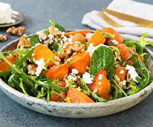 Roasted carrot and brown rice salad thumbnail