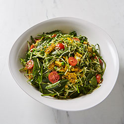 Zuchinni noodles and salsa verde salad thumbnail