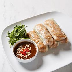 Tofu, shitake mushroom and fresh herbs rice paper rolls thumbnail