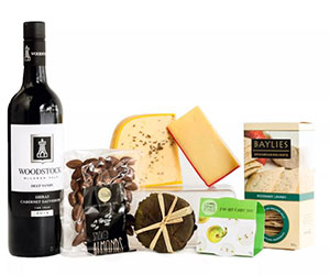 Cheese and red wine hamper thumbnail