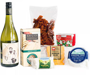 Cheese and white wine hamper thumbnail