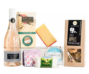 Sweet tooth cheese and wine hamper thumbnail