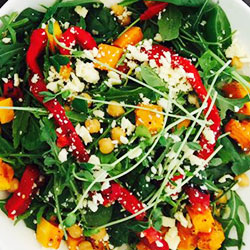 Roasted pumpkin salad bowl thumbnail