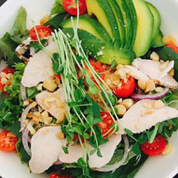 Chicken and macadamia salad bowl thumbnail