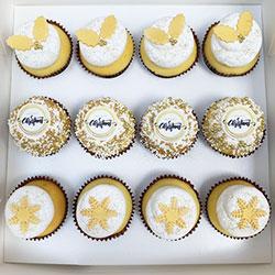 Golden Christmas cupcake box thumbnail