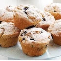 Chocolate and seasonal fruit muffins - large thumbnail
