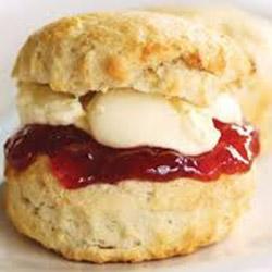 Lemonade scone with jam and cream thumbnail