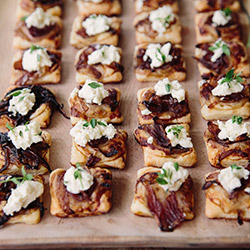 Caramelised onion and Yarra Valley Persian fetta tarts  thumbnail