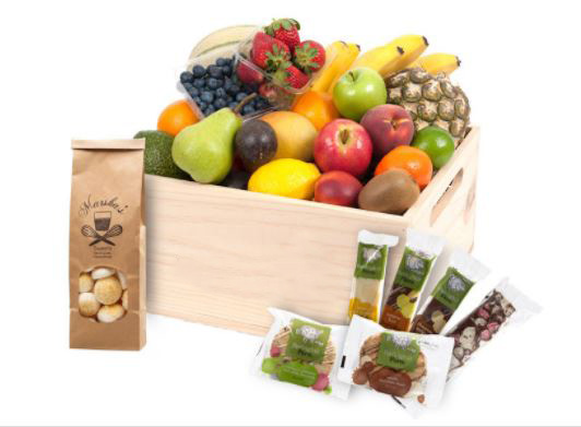 Fruit Hampers with Sweet Treats - deluxe thumbnail