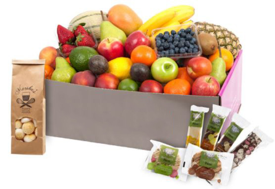 Fruit hampers with sweet treats - large thumbnail