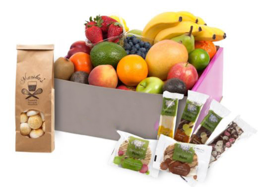 Fruit hampers with sweet treats - small thumbnail