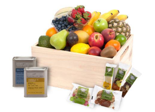 Fruit Hamper with Tea Treats Classic - deluxe thumbnail