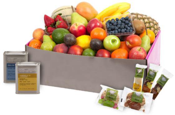 Fruit Hamper with Tea Treats Classic - large  thumbnail