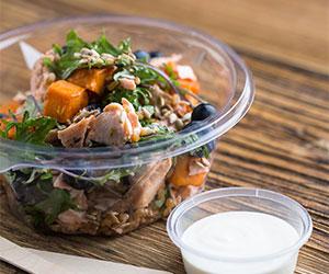 Flaked confit salmon superfood salad thumbnail