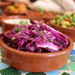 Red cabbage and coriander salad thumbnail