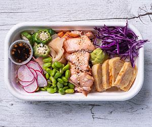 Miso salmon poke bowl thumbnail
