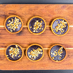 Chocolate ganache and peanut butter tart - mini thumbnail