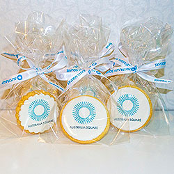 Shortbread cookies with logo thumbnail