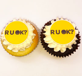 R U OK logo cupcakes thumbnail