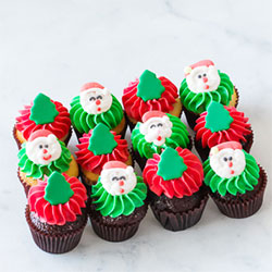Christmas petite cupcakes thumbnail