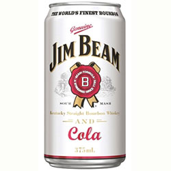 Jim Beam White and Cola - cans - 375ml thumbnail