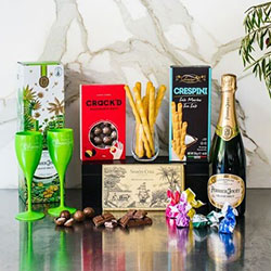 Perrier-Jouet champagne and flutes gift hamper thumbnail