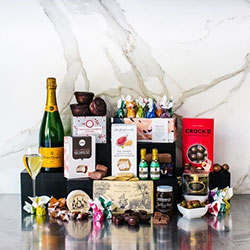 Veuve Clicquot and foodie collection gift hamper thumbnail