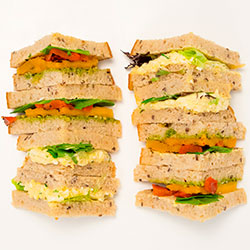 Healthy triangle sandwiches thumbnail