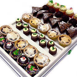 Festive Christmas cakes and slices thumbnail