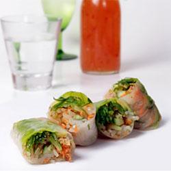 Vietnamese rice paper rolls thumbnail