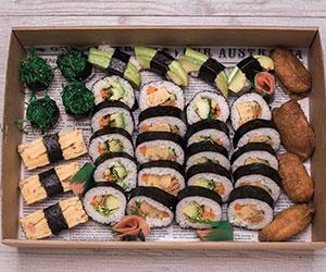 Large vegetarian sushi thumbnail