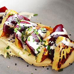 Beetroot and haloumi salad thumbnail
