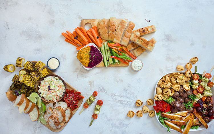 corporate catering grazing platters